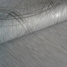 Entzuckend Streifen Tapete EDEM 1020 10 Designer Tapete Struktur Metallic Look  Glanzeffekte Hochwaschbare Oberfläche Grau Silber U2013 Bild 2