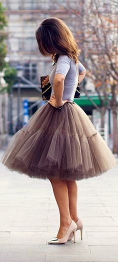 awesome Jupon en tulle : Minimal, Street, Glamour, Haute Couture, Luxury, Fashion, Chic, Style, Designers...
