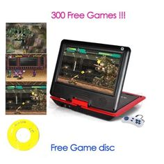 Portable DVD Player LCD Screen Display CD VCD MP3 MP4 USB Home Theater (red, 9.5 inch) by Bravolink DVD. $75.99. Specification:  Screen: TFT LCD Screen Rotation Angle: 270 degrees rotating screen design,180 degree fliping Game function: Free Game CD included 300 games, Free Game joystick Analog TV functionality PAL, SECAM, NTSC Lens: HITACHI Compatible Disc Formats: RMVB,AVI,RM,DVD, EVD,CD,VCD,DVD, CD-RW,DVD-R,DVD-RW. Supported Video Formats: RMVB,AVI,RM,VOB,MPG,MPEG1,MPEG2,...