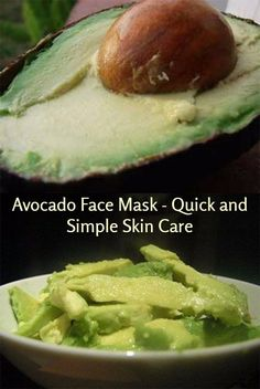 Here's a quick and simple avocado face mask anyone can make up at home and be applying a couple of minutes.    Used regularly, perhaps a couple of times a week, most people will quickly see a real improvement in their skin's texture and appearance.