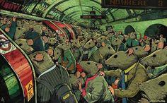 Artist illustrates modern day life and it's terrifying Source: Steve Cutts / Via stevecutts.comoriginal-31341-1440436431-3.jpg