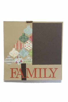 Our Family Christmas/ Holiday 12x12 Premade Scrapbook Page by JensMemoryMakers on Etsy