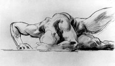 Study of a figure for Hell - John Singer Sargent