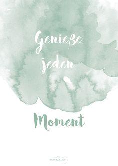 Free Printable: Genieße jeden Moment - ein tolles Last Minute Geschenk