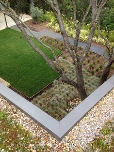 Modern Landscape Design - I love the cement border!