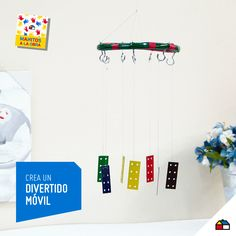 ¡Arma un divertido móvil con una manguera! #Sodimac #Homecenter #Peru #juego #juguete #imaginación #ManosAlaObra #ManitosAlaObra