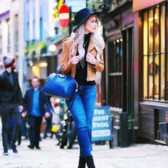 Did you catch this vlog over on my YouTube channel? Channeling winter with fedoras and bikers!