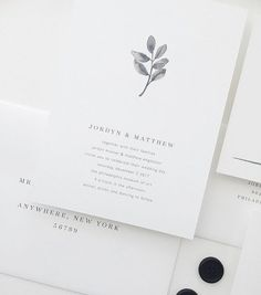 Minimalist Black and White Hand Lettered Wedding Invitations with thin and modern hand lettering script and sans serif fonts by Grace Niu >>> Continue viewing to know more #WeddingInvitation