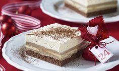 Vianočné rezy  Recept | Dr. Oetker Christmas Sweets, Christmas Baking, Czech Recipes, Ethnic Recipes, Vanilla Cake, Baked Goods, Sweet Recipes, Tiramisu, Nutella