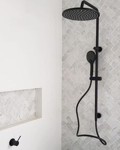 Shower Niche Trends : Modern shower niches, two tone shower niches and using accent tile in your shower niche will give your shower a great WOW factor. Upstairs Bathrooms, Small Bathroom, Light Grey Bathrooms, Tiny House Bathroom, Luxury Bathrooms, Modern Bathrooms, Master Bathrooms, Dream Bathrooms, Master Bath Remodel