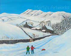 Walking In A Winter Wonderland Acrylic on 40cm x 50cm deep edged canvas