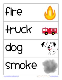 Fire Safety - Word Wall Cards.pdf