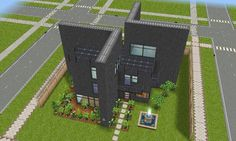 architecture house #sims freeplay modern house design