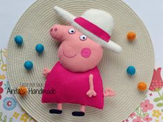 Granny Pig - babcia Świnki Peppy  #filc #felt #fieltro #peppapig #grannypig