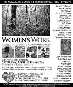 Powerful Women's Art Show at the Tarnoff Art Center, this Saturday 4-7 PM!