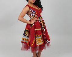 NOUVEAU IN:African vêtement robe Ankara robe maxi africaine