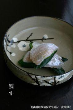 和食器 Japanese Food Sushi, Sashimi Sushi, Sushi Love, Food Decoration, Food Staples, Winter Food, Food Design, Food Presentation, Food Art