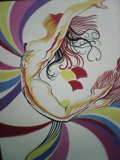 Pintar e praticar os sentimentos! Criando os movimentos