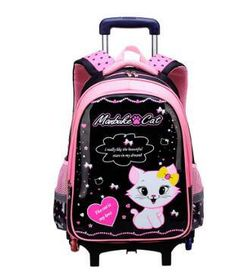 6e647214fc Children School Rolling backpacks bag for kids wheeled backpack bag for  Girls school Trolley bags kids