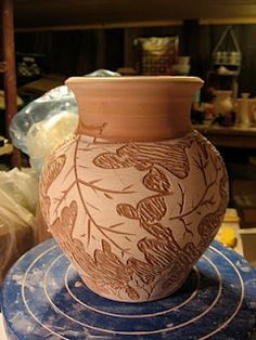 I love meeshpottery. This is lovely, but I like their ginko carvings best.