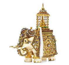 Objet d'Art ~ An Antique Multi-Gem and Ivory Elephant, circa 1900 Ivory Elephant, Elephant Love, Elephant Cushion, Elephant Gifts, Elephant Jewelry, Animal Jewelry, Elephant Artwork, Art Deco Diamond, Objet D'art