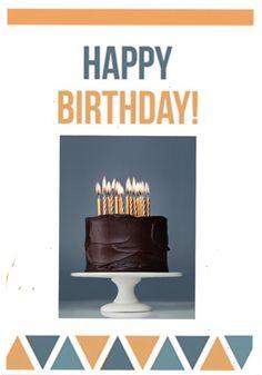 Happy birthday, pastel con velitas