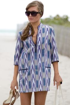 Emerson Fry Tunic / mandarin Collar / straight shape