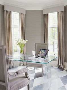 south shore decorating blog beautiful home offices part 2 beautiful office desk glass