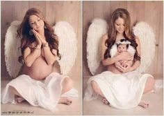 Love this idea for a before && after pregnancy photo!