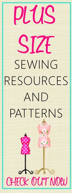 Sewing Tips Helpful Hints Get the links to all the helpful resources that you would for plus size sewing. Included in this post are classes, books, and links to sewing patterns. - plus size sewing patterns Sewing Hacks, Sewing Tutorials, Sewing Crafts, Sewing Tips, Dress Tutorials, Sewing Ideas, Techniques Couture, Sewing Techniques, Plus Size Sewing Patterns