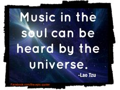 Lao Tzu quote about music and universe