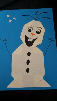 Olaf vouwen Preschool Activities, Snowman, Origami, Christmas Crafts, Stage, Frozen, Disney Characters, Kids, Winter Time
