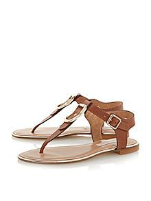 Juckle leather flat sandals #houseoffraser