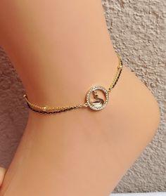 Swan Gold Anklet