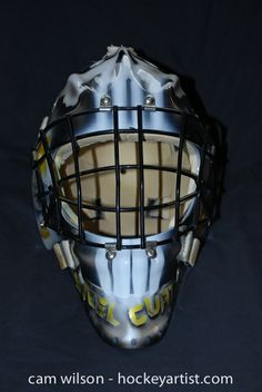 Punisher Afghanistan Goalie Mask - Airbrushing by Cam Wilson www.hockeyartist.com