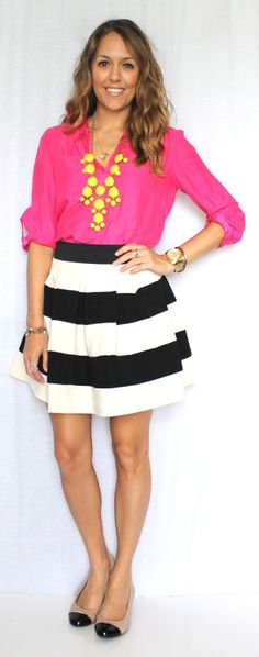 like the hot pink with black & white Js Everyday Fashion: Todays Everyday Fashion: The Baby Shower