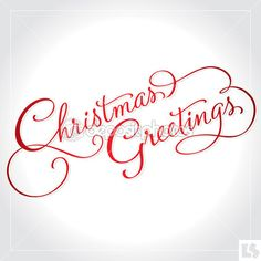 CHRISTMAS GREETINGS hand lettering (vector) — Stock Vector © letterstocker #download #stock #StockImages #microstock #royaltyfree #vectors #calligraphy #HandLettering #lettering #design #letterstock #silhouette #decor #printable #printables #craft #diy #card #cards #label #tag #sign #vintage #typography