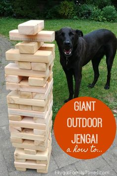 Outdoor games are so much fun! Here's how to build a GIANT OUTDOOR JENGA! If your planning a picnic or outside family event consider making a yard jenga. These big jenga blocks can be made in an afternoon - on a budget - and even stored outdoors! Yard Games For Kids, Diy Yard Games, Outdoor Games For Kids, Diy Games, Backyard Games, Diy For Kids, Backyard Ideas, Backyard Walkway, Kids Yard