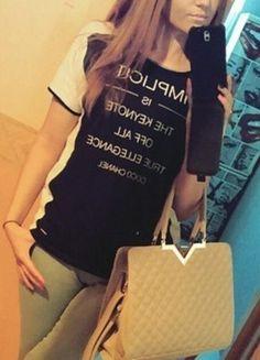 Kup mój przedmiot na #vintedpl http://www.vinted.pl/damska-odziez/bluzki-z-krotkimi-rekawami/11293800-bialo-czarna-bluzka-z-napisem-top-secret