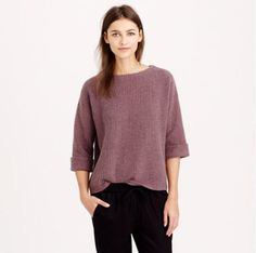J. Crew Roll-Sleeve Sweater via @stylelist   http://aol.it/1tpXZs3