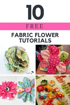 Find this and hundreds of FREE Sewing Tips and … 10 FREE Fabric Flower Tutorials. Find this and hundreds of FREE Sewing Tips and Tutorials at www. Making Fabric Flowers, Yarn Flowers, Cloth Flowers, Fabric Roses, Flower Making, Diy Flowers, Paper Flowers, Flower Diy, Fabric Flower Tutorial