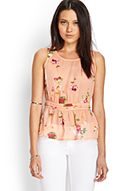 Floral Print Peplum Top $15.80 Forever 21