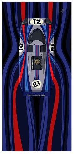 Martini Porsche Le Mans, Vintage Racing, Vintage Cars, Auto Poster, Car Posters, Continental, Art Cars, Ferrari, Martini Racing