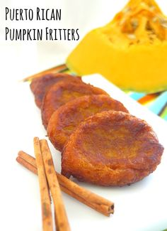Puerto Rican Pumpkin Fritters Recipe from KarmaFree Cooking Puerto Rican Dishes, Puerto Rican Cuisine, Puerto Rican Recipes, Puerto Rican Cake Recipe, Puerto Rican Appetizers, Boricua Recipes, Comida Boricua, Comida Latina, Pumpkin Fritters