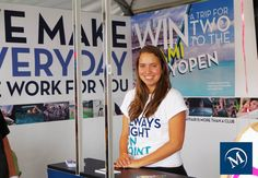 Hanging out at the Mayfair Booth at the 2014 Rogers Cup. #myMayfair