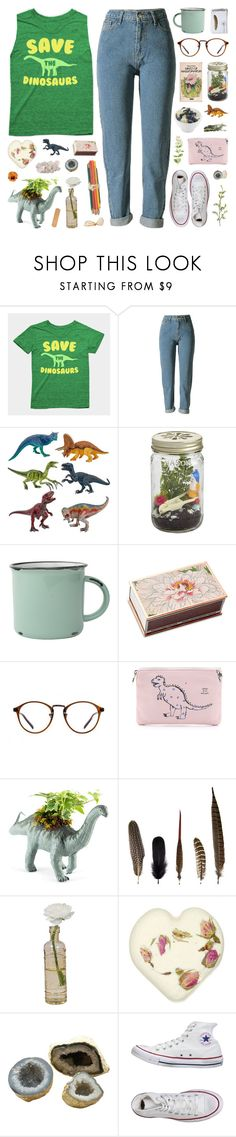 """dinosaurs"" by allyrobin ❤ liked on Polyvore featuring CB2, canvas, Shandell's, Meli Melo, Twig Terrariums, Mineheart, Cultural Intrigue, Times Two Design, Converse and Pier 1 Imports"