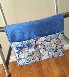 Walker Caddy Bag  Turquoise and Brown Floral Print