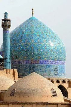 """Esfahan, Iran : """"Shah"""" or """"Imam"""" Mosque – Islamic Photos Cultural Architecture, Persian Architecture, Beautiful Architecture, Beautiful Buildings, Art And Architecture, Islamic World, Islamic Art, Beautiful Mosques, Beautiful Places"""