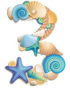 Transparent Number Three Sea Style PNG Clipart Picture