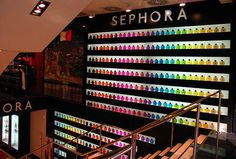 Sephora makeup store, I would die in here!
